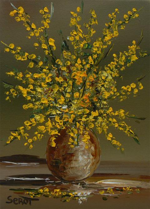Bouquet de genêts Réf 0071 22 x 16
