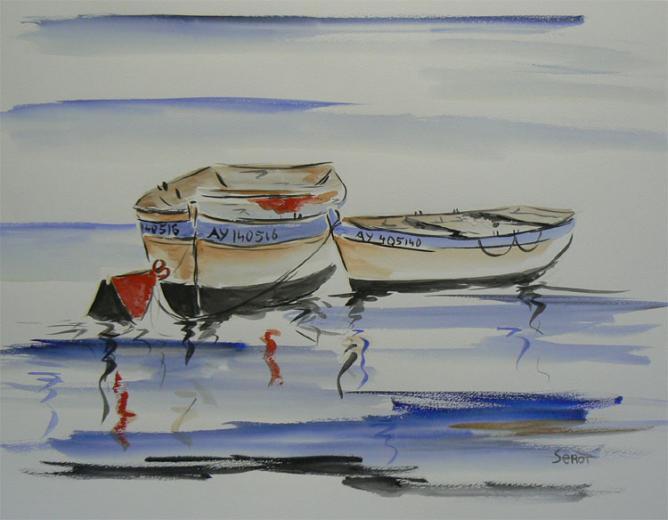 Calme Réf 0104 Aquarelle 65 x 50