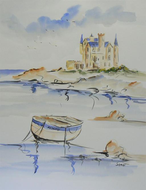 Chateau Turpault Réf 0105 Aquarelle 65 x 50