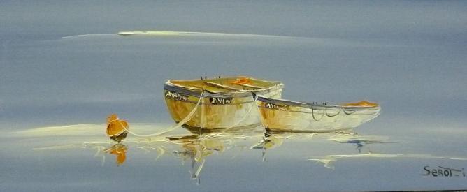 Deux barques Réf 0022 Bois 50 x 22 Instinctif