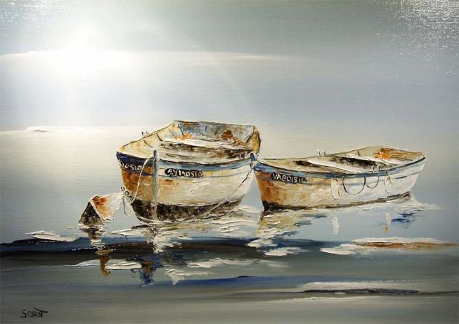Deux barques Réf 0089 65 x 46