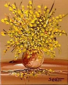 Bouquet de genêts Format 19 x 24 (vendu)