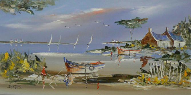Golfe du Morbihan Réf 0054 40 x 80 Instinctif