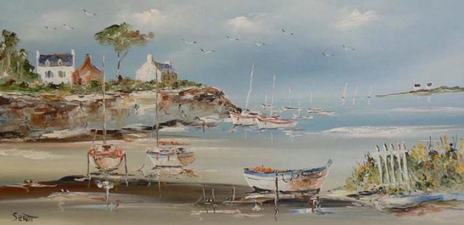 Golfe du Morbihan au printemps Réf 0092 40 x 80