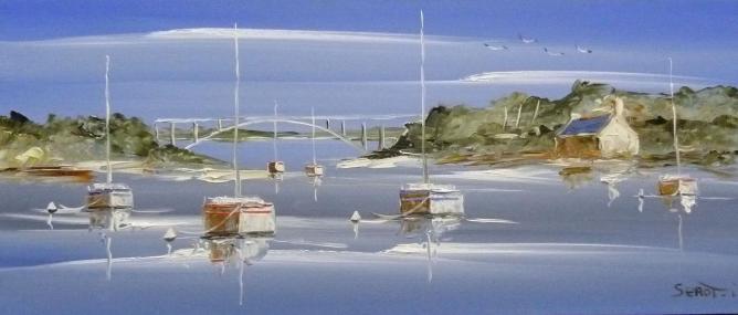 La trinité sur mer Réf 0023 Bois 50 x 22 Instinctif