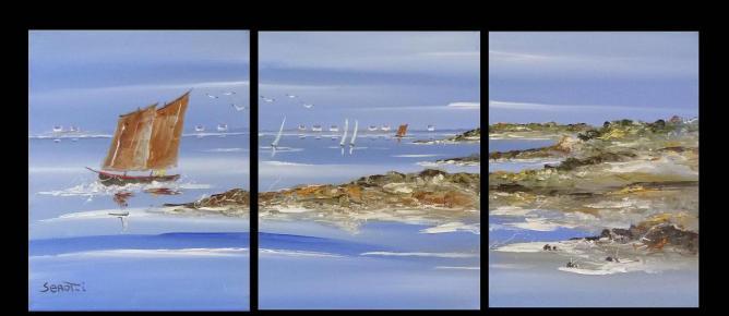 Locmariaquer et sinagot Réf 0067 Triptyque Instinctif
