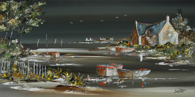 Orage dans le Golfe du Morbihan Réf 0097 40 x 80