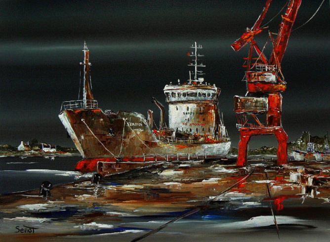 Port de Lorient en février Réf 0099 73 x 54