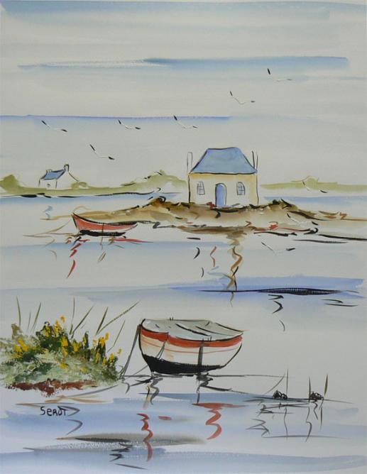 Saint-cado Aqua Réf 0111 Aquarelle 65 x 50